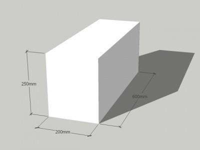 Газосиликатный блок 200/250/600