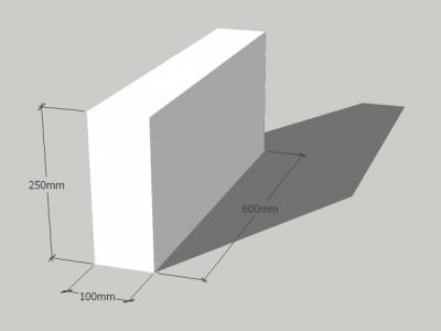 Газосиликатный блок 100/250/600