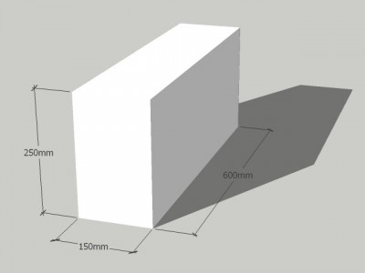 Газосиликатный блок 150/250/600