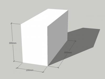 Газосиликатный блок 200/300/600