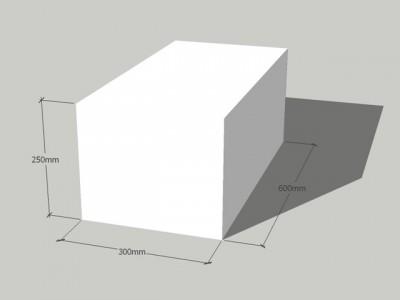 Газосиликатный блок 300/250/600