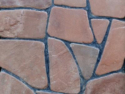 Природный камень Песчанник красный оголтованный